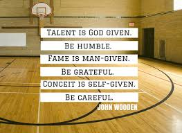 John Wooden on humility